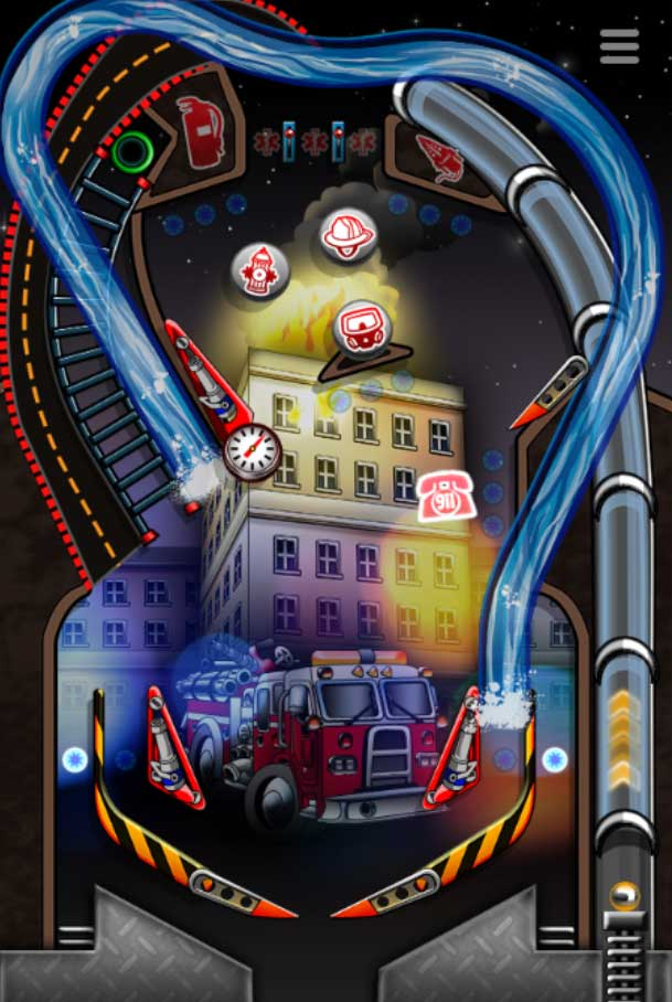 Firefighter Pinball Game