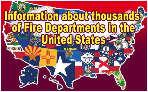 Map of all the USA Fire Departments and Fire Stations